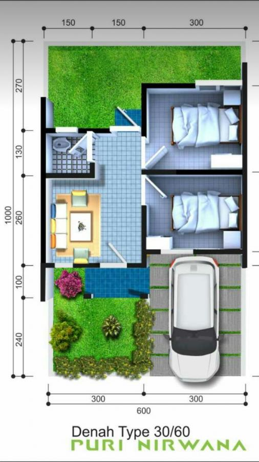Subsidi Denah Rumah Type 30 60
