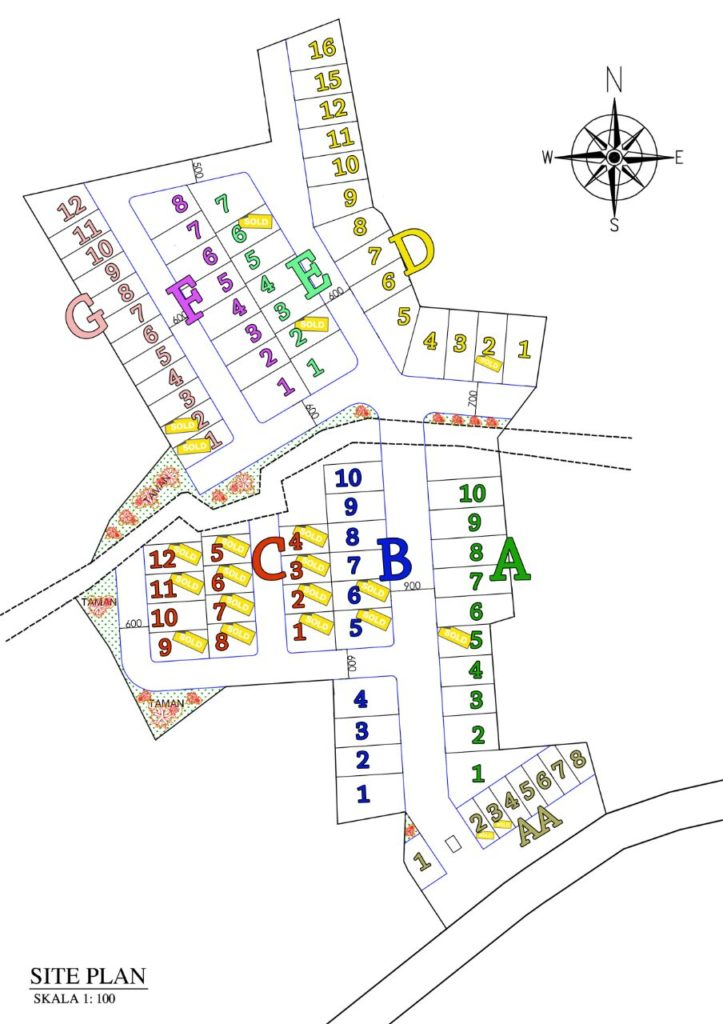 Site Plan Sevilla Residence 723x1024 - Rumah bergaya Eropa di Sevilla Residence Cilodong Depok
